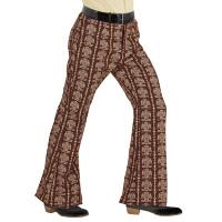 70's Disco broek heren groen bruin old school