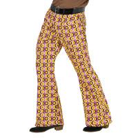 70's Disco broek heren kleurrijk printje