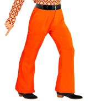 70's Disco broek heren oranje 70e jaren