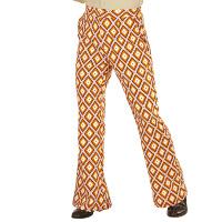 70's Disco broek heren oranje ruit