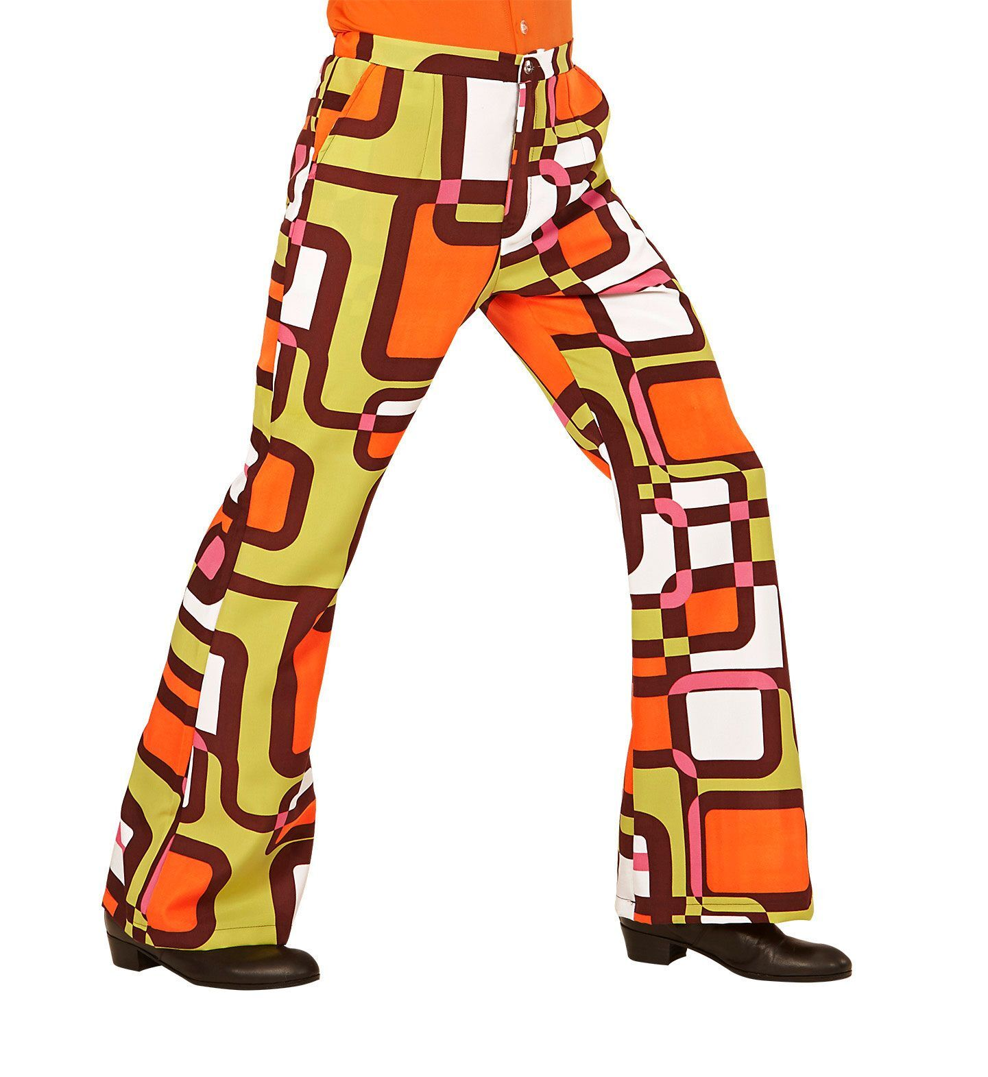 70's Disco broek heren retro printje the seventies