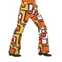 70's Disco broek heren retro printje the seventies