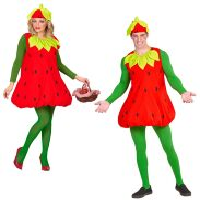 Aardbeien kostuum Aardbeienpak volwassen