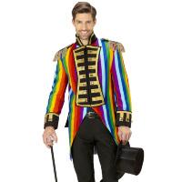Alle kleuren van de regenboog slipjas parade jas volwassenen