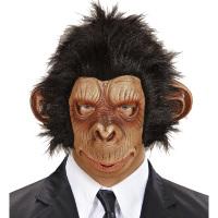 Apen masker met pluche haren volwassen aap