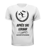 Apres ski leraar T-shirt gecertificeerd