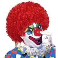 Clownspruik volwassen krullend rood