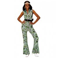 Disco 70's groovy jumpsuit retro dames