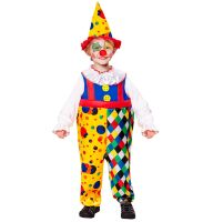 Fleurig clownspak jongen clown billy