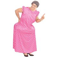 Gezet oma kostuum stevige tante jurk