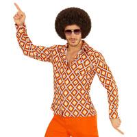 Groovy 70's disco blouse heren let's dance