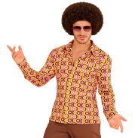 Groovy 70's disco blouse retro print heren