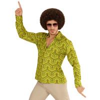 Groovy 70's disco blouse wallpaper groen heren
