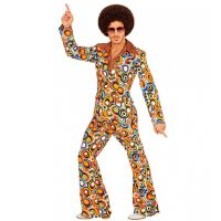 Groovy 70's disco kostuum man saterday night fever retro motief
