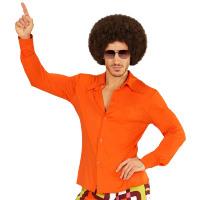 Groovy jaren 70's blouse oranje heren