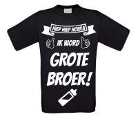 Hiep hiep hoera ik word grote broer T-shirt