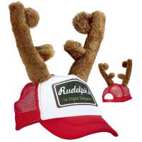 Kerst rendier baseball cape met gewei