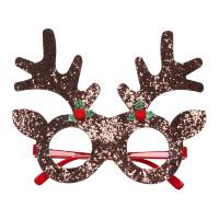 Pailletten rendier bril kerst