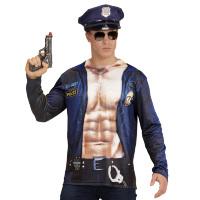 Politie man longsleeve foto realistisch volwassen