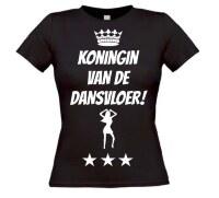 T-shirt koningin van de dansvloer