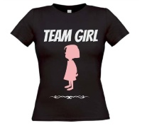 Team girl T-shirt voor een gender reveal party