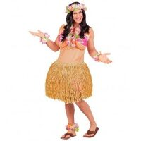 Travestieten kostuum volwassen hawaiiaanse dame