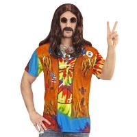 Woodstock hippie t-shirt foto realistisch heren