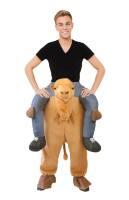 Bereden instap kostuum op de rug van een kameel zitten
