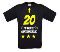 20 jaar en woest aantrekkelijk t-shirt