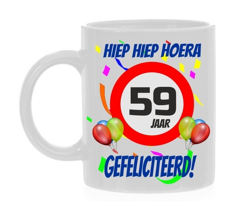 Verjaardags Mok 59 Jaar Voordelig Bij Bbwebwinkel Nl