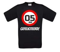 Verjaardags T-shirt 5 jaar verkeersbord