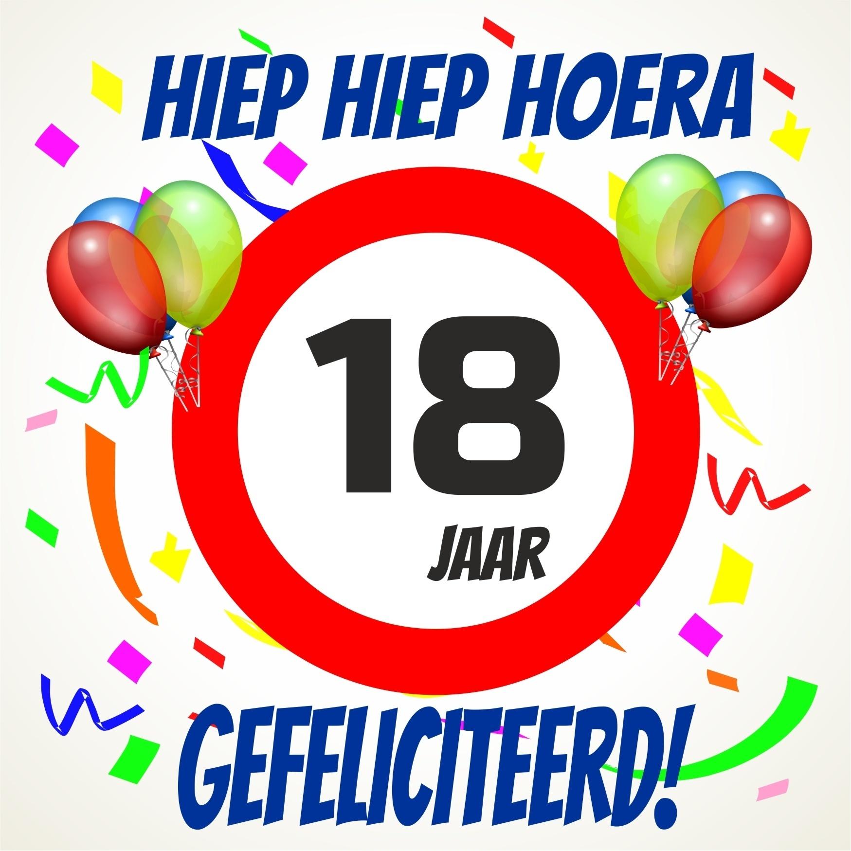 Verjaardag 18 Jarige.Gefeliciteerd 18 Jaar Man Glendance
