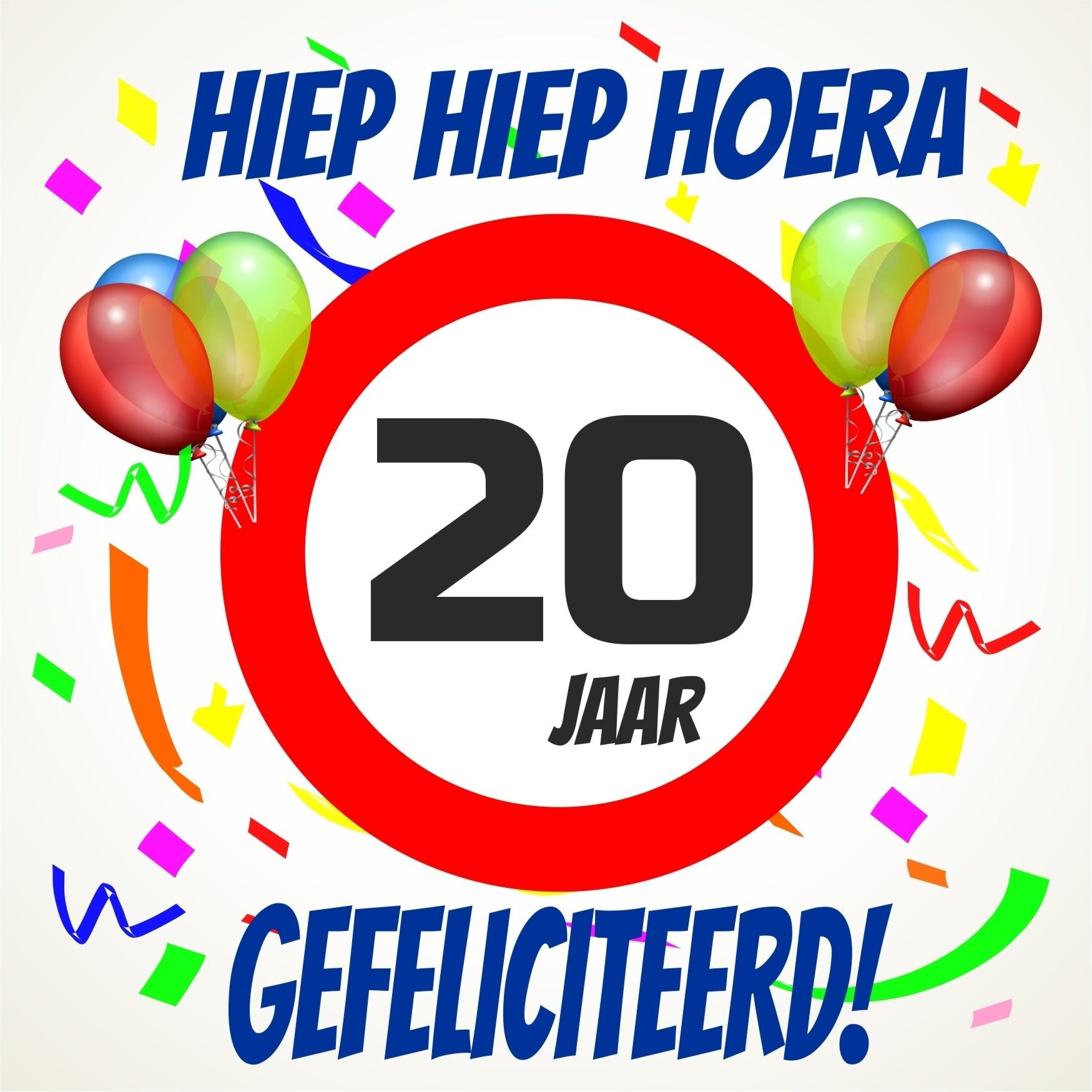 Verjaardags Tegeltje 20 Jaar Voordelig Bij