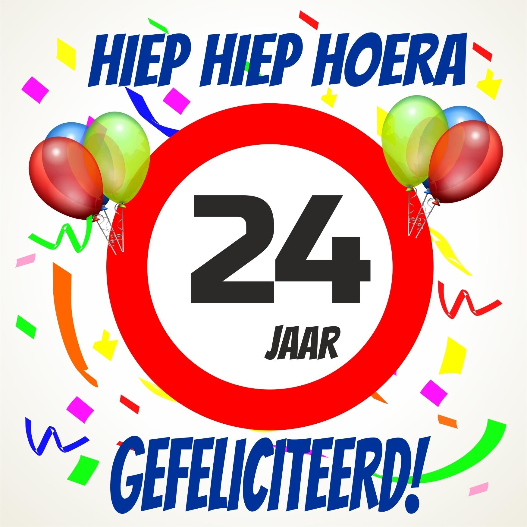 verjaardag 24 jaar Verjaardags tegeltje 24 jaar voordelig bij  verjaardag 24 jaar