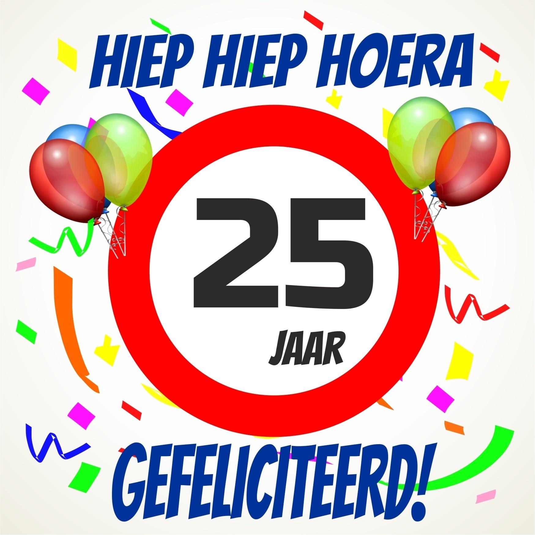 Verjaardags Tegeltje 25 Jaar Voordelig Bij