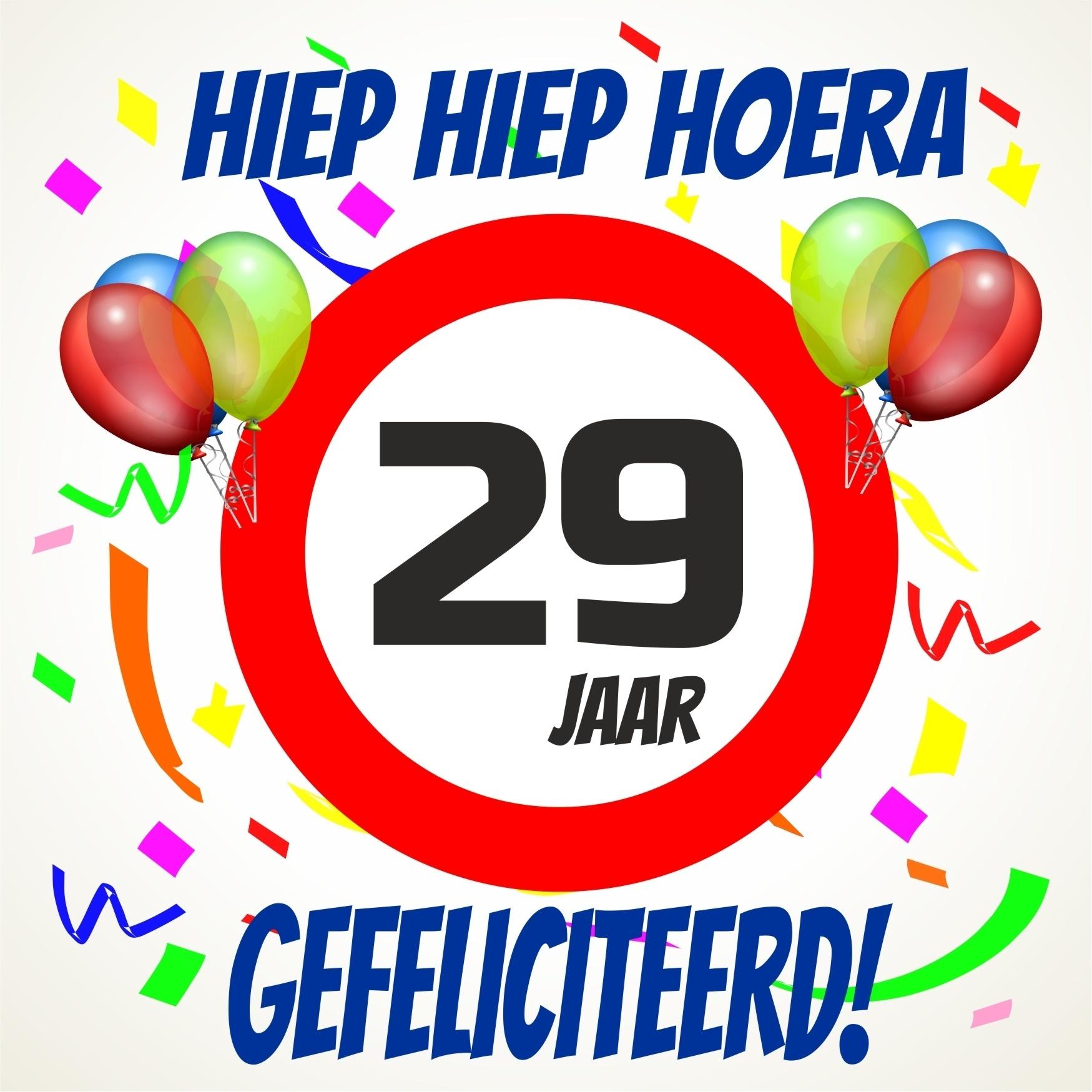 29 jaar Verjaardags tegeltje 29 jaar voordelig bij  29 jaar