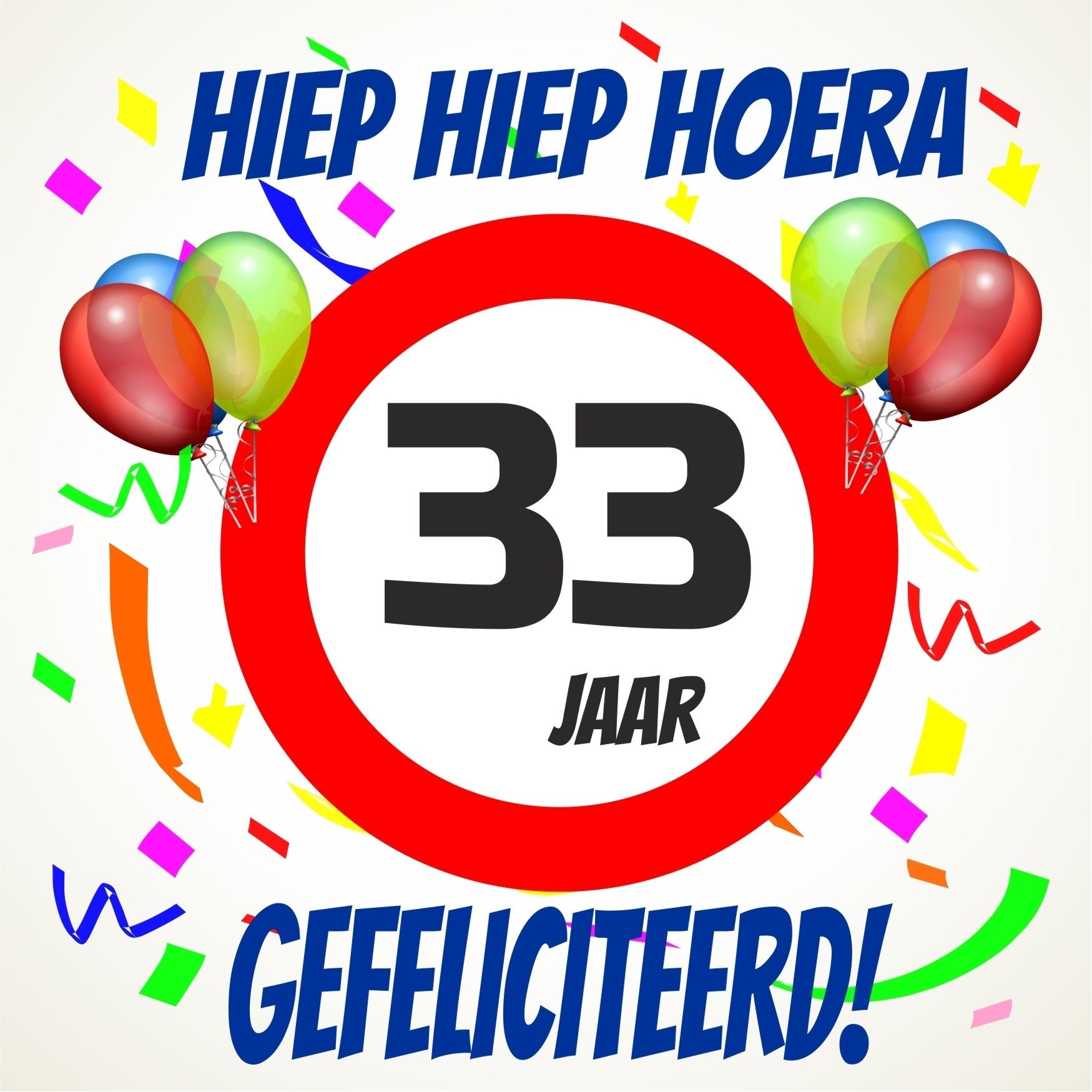 33 jaar Verjaardags tegeltje 33 jaar voordelig bij  33 jaar