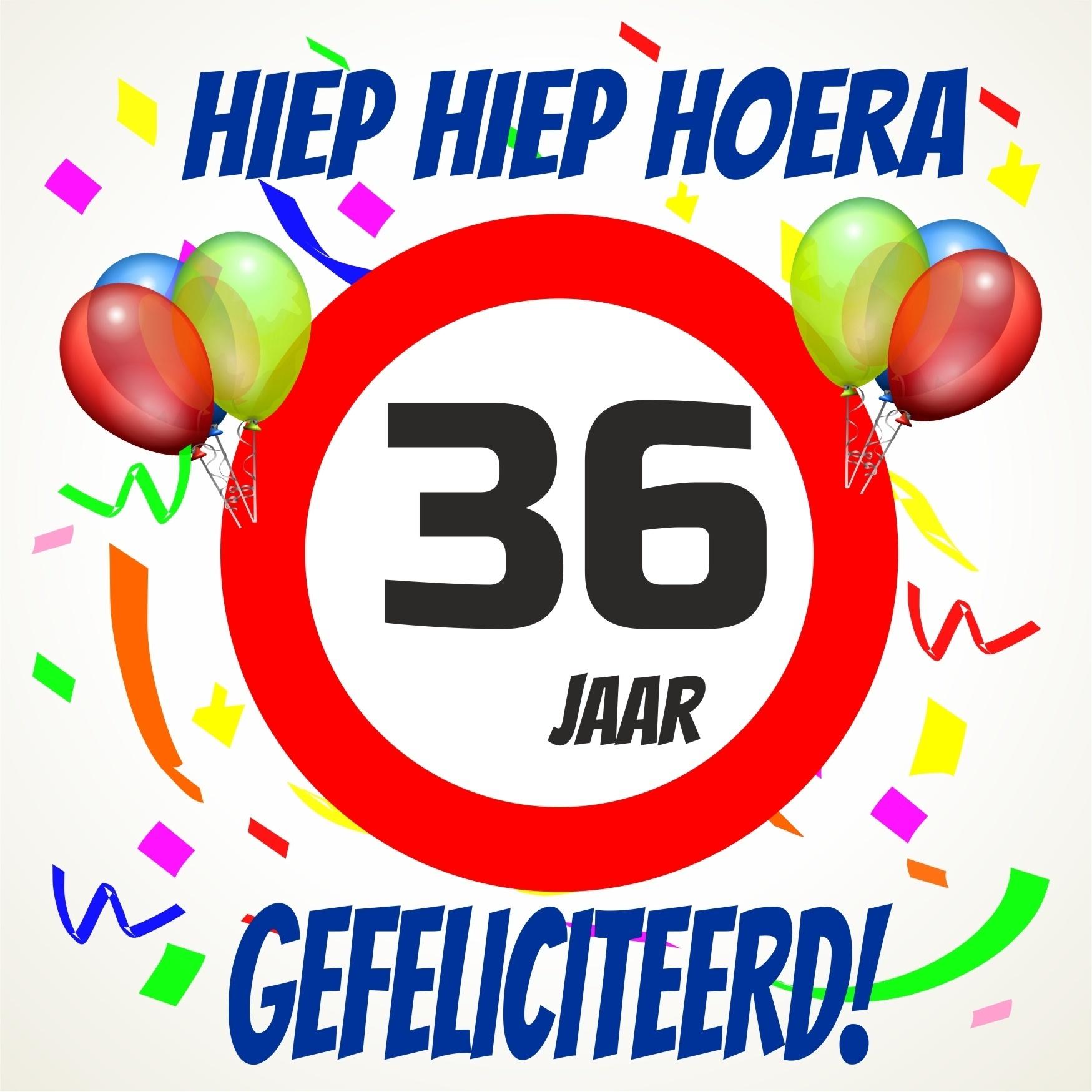 36 jaar Verjaardags tegeltje 36 jaar voordelig bij  36 jaar