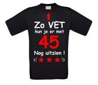 Zo vet kun je er met 45 jaar nog uitzien T-shirt