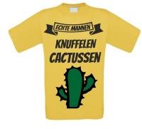 Echte mannen knuffelen cactussen shirt