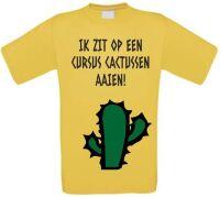 Ik zit op een cursus cactussen aaien shirt