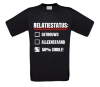 Relatiestatus shirt 50 procent single