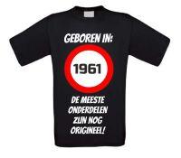 Verjaardag shirt geboren in het jaar 1961