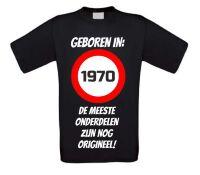 Verjaardag shirt geboren in het jaar 1970