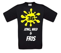 Verjaardags T-shirt 36 jaar jong wild en fris