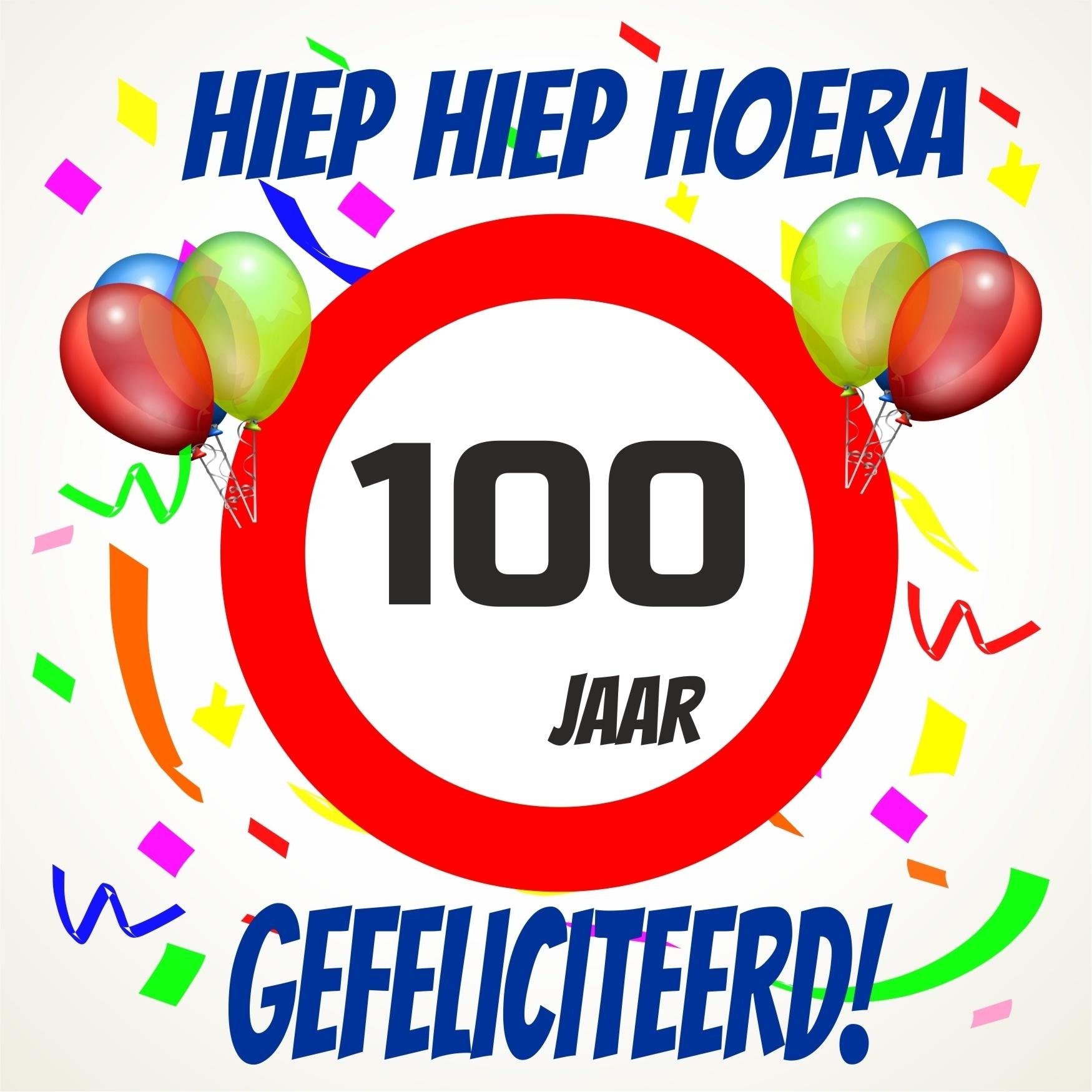 100 jaar Verjaardags tegeltje 100 jaar voordelig bij  100 jaar