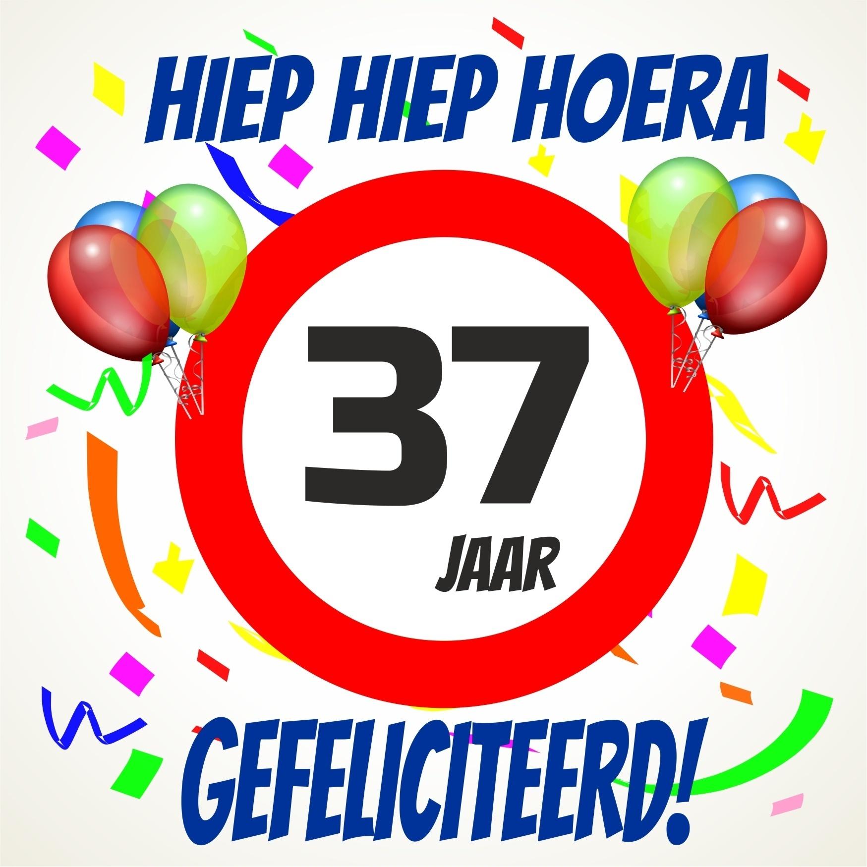 37 jaar Verjaardags tegeltje 37 jaar voordelig bij  37 jaar