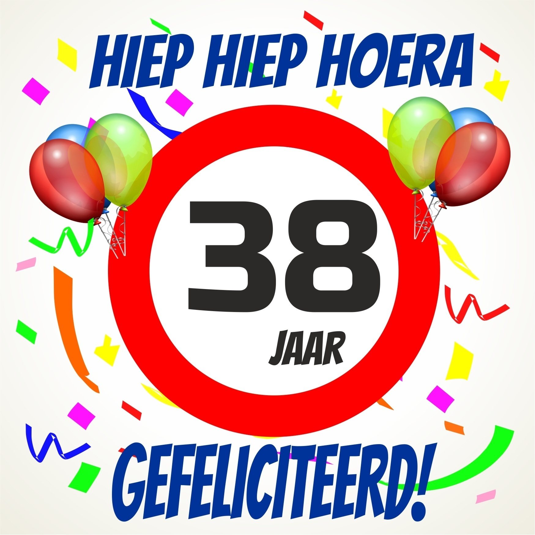 38 jaar Verjaardags tegeltje 38 jaar voordelig bij  38 jaar