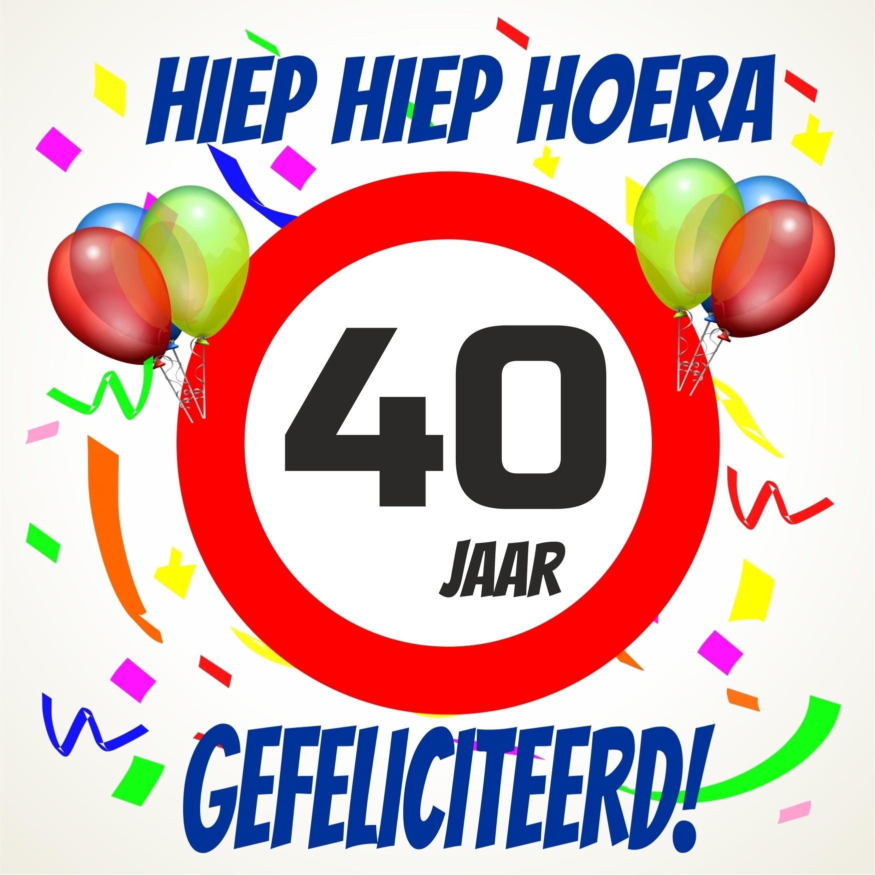 hoera 40 jaar Verjaardags tegeltje 40 jaar voordelig bij  hoera 40 jaar