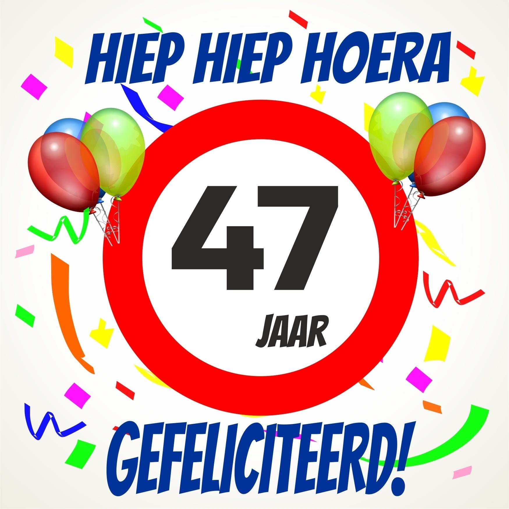 47 jaar Verjaardags tegeltje 47 jaar voordelig bij  47 jaar